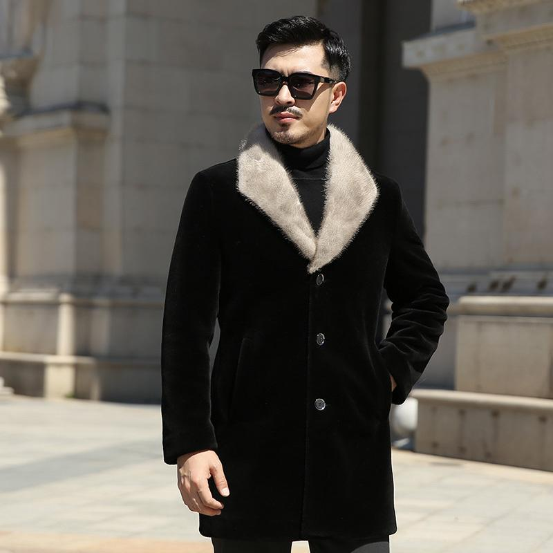 ed924411a29 2019 Plus Size 7XL Autumn And Winter Pattern Luxurious Fur Cashmere And Fur  Sheep Overcoat Wool Overcoat Men S Wear Long Loose Coat From Tayler