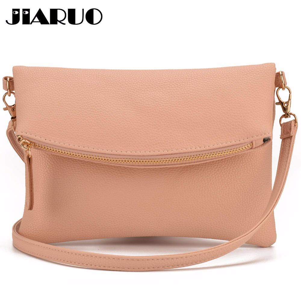 JIARUO Small Leather Crossbody Bag For Women Messenger Bag Shoulder Handbag  Fold Cover Flap Envelope Bags With Front Pocket Leather Purse Womens Purses  From ... df5b9f922e273