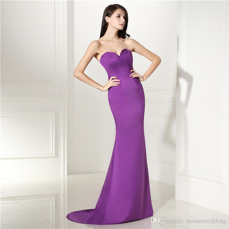 Hermosa Más El Vestido De Boda Púrpura Tamaño Motivo - Ideas para el ...