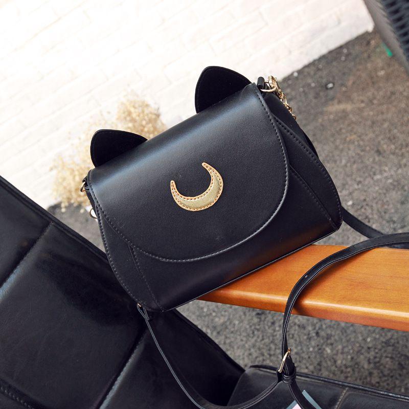 f3d12f6f406a3 Satın Al BEWITU Sıcak Satış Charm Luna Siyah Kawaii Sailor Moon Çanta Mini Omuz  Kedi Çanta Kadınlar Için, $23.3   DHgate.Com'da