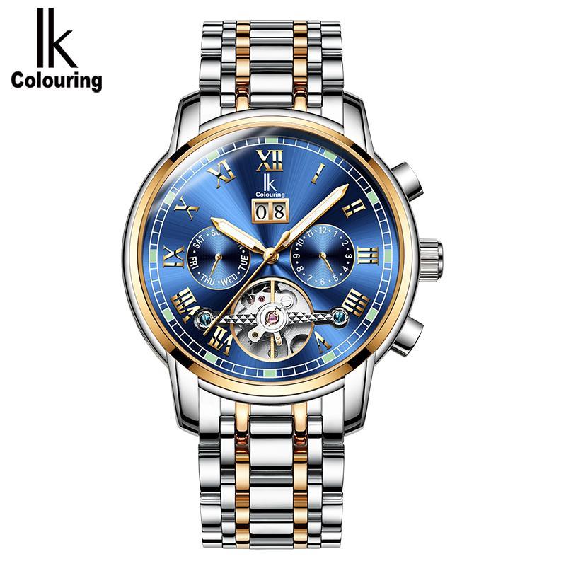 e7e6d2f8c89 Compre IK Mens Relógios Top Marca De Luxo Relógio Mecânico Automático Dos  Homens De Negócios De Aço Completa À Prova D  Água Esporte Relógios Relogio  ...