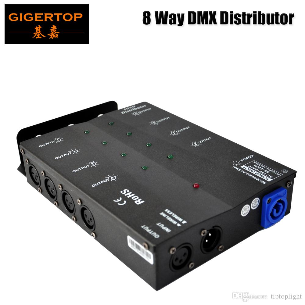 8channels dmx distributor with one inputvoltage 88v 256v small size