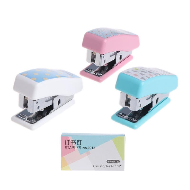 Mini Stapler 12# Staples Set Home Office School Paper Document Bookbinding  Tool New And High Quality