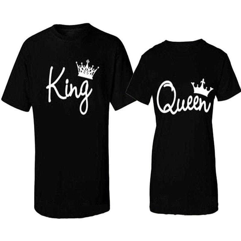 692da08769 Summer Men T Shirt Casual Cotton T-Shirt Men Short Sleeve Couple T-Shirt  King and Queen - Love Matching Shirts - Couple Tee Tops