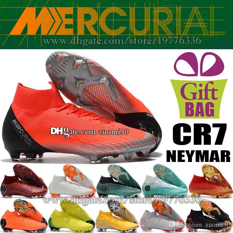 57f0931f21659b Acquista Calze Da Calcio Uomo Alta Caviglia CR7 Mercurial Superfly VI FG  ACC Scarpe Da Calcio Ronaldo Nuove Scarpe Da Calcio Neymar JR Scarpe Da  Ginnastica ...