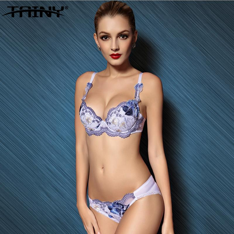 1ca835fcc6f TANIY Brand Anti-sagging Push Up Embroidery Flowers Lace Sexy ...