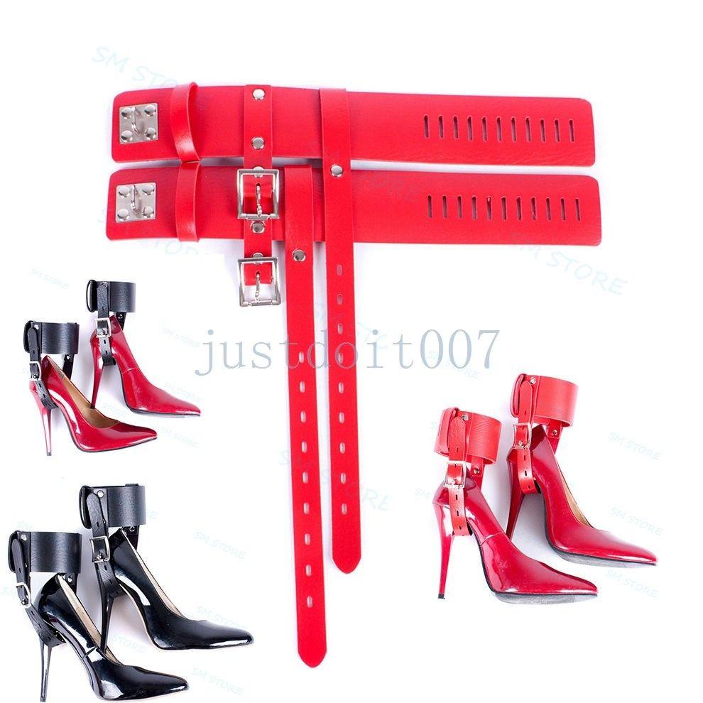 bd1f451ec0 Locking Leather Ankle Belts Restraint Cuffs Fixed To High Heel Shoes Straps  Hot #R98 Bondage Photobucket Bondage Sales From Zgmtai, $12.12| DHgate.Com