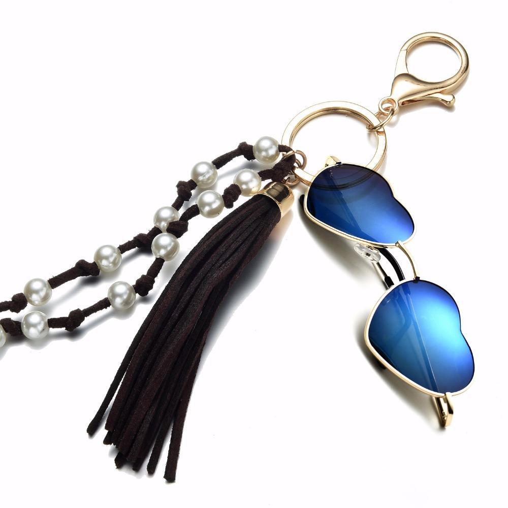 167d5f75a137 Compre Onnea Nuevas Gafas De Sol De Moda Collar Del Sostenedor Para Las  Mujeres Niñas Llaveros Encantos De La Forma Perla Simulada Cuentas De  Múltiples ...