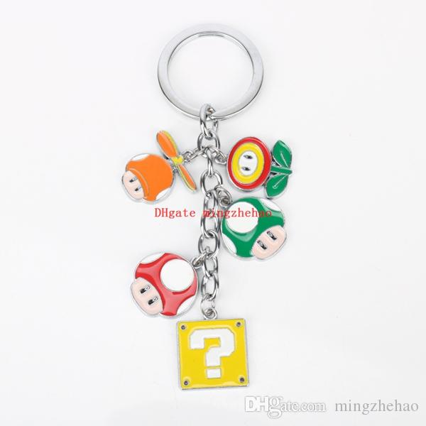 Super Mario Bros Figure Toys Phone Keychain Nario Luigi Mushroom Question  Mark Pendant Key Chain Ring Cosplay Chaveries UK 2019 From Mingzhehao 71ae8765a