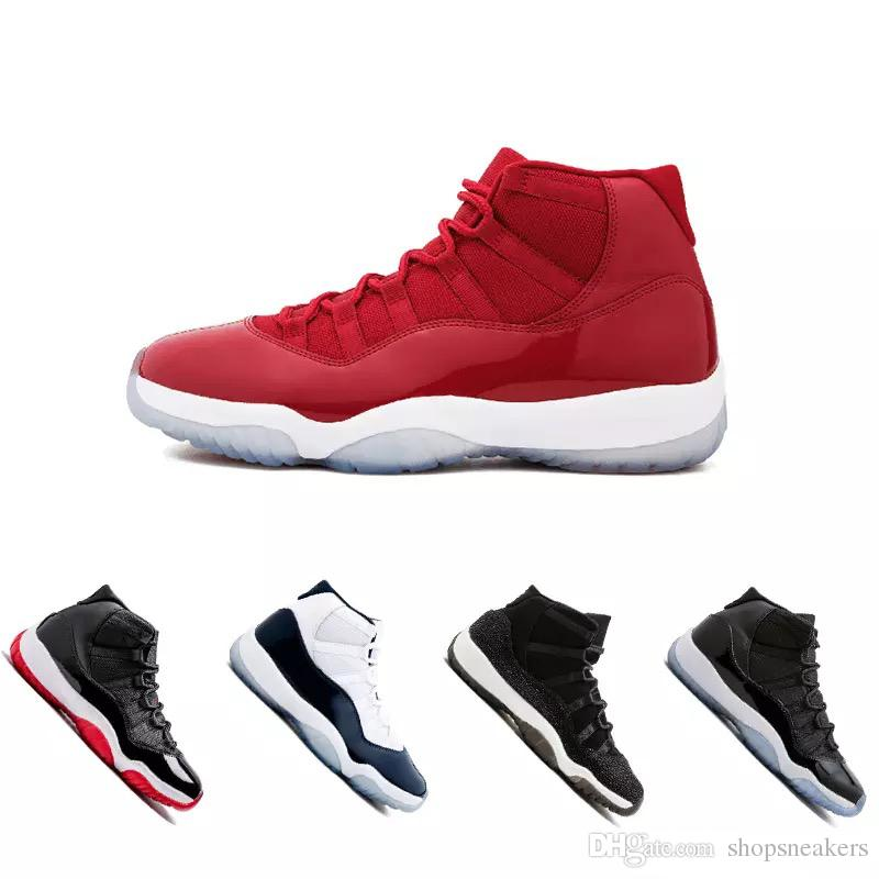 5ceca4d80719 2019 Cap And Gown 11 XI 11s PRM Heiress Black Stingray Gym Red Chicago  Midnight Navy Space Jams Men Basketball Shoes Sports Sneaker From  Shopsneakers