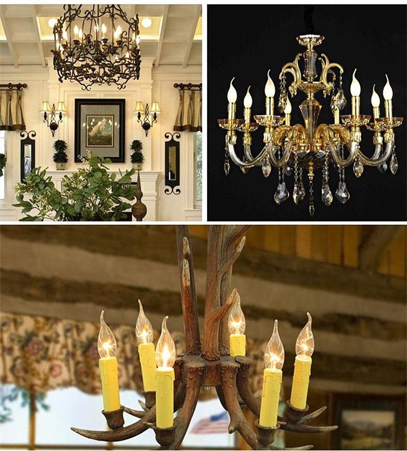 WOXIU ha condotto la lampadina a filamento e14 lampadina a candela a vite piccola 3W lampada lampadario a bolle lampada a filamento a led sorgente di luce posteriore