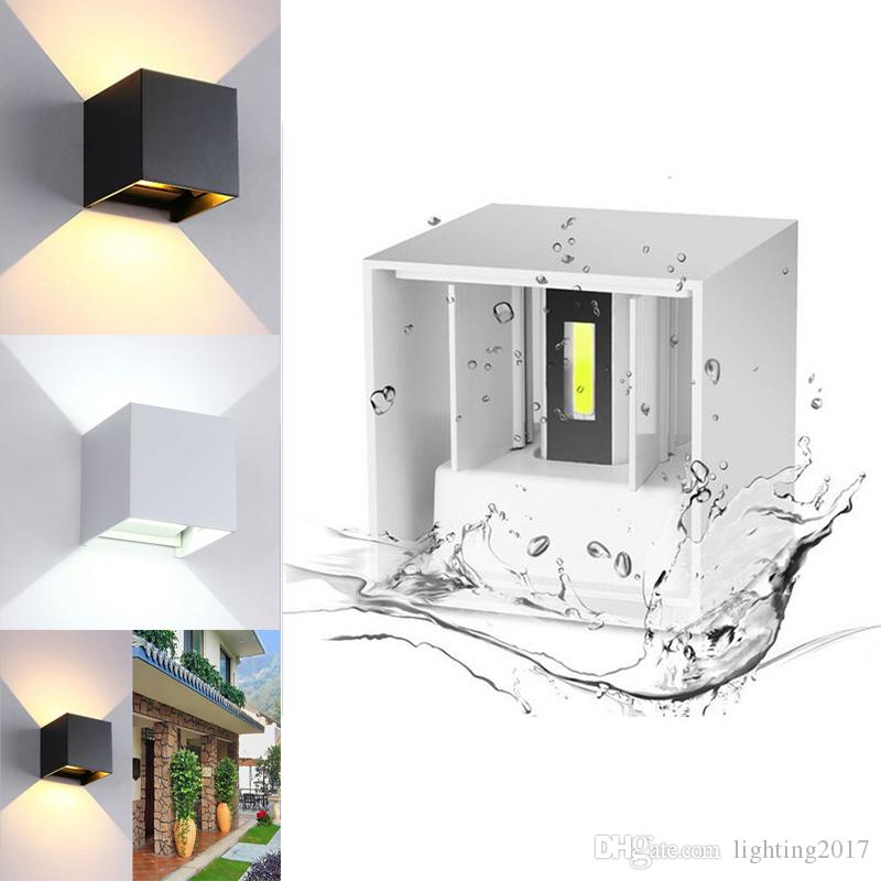 Outdoor LED Wall Light 7W 12W IP65 Waterproof Angle Adjustable COB LED Wall Lamp Wall Sconces Decorative For Home Garden Porch