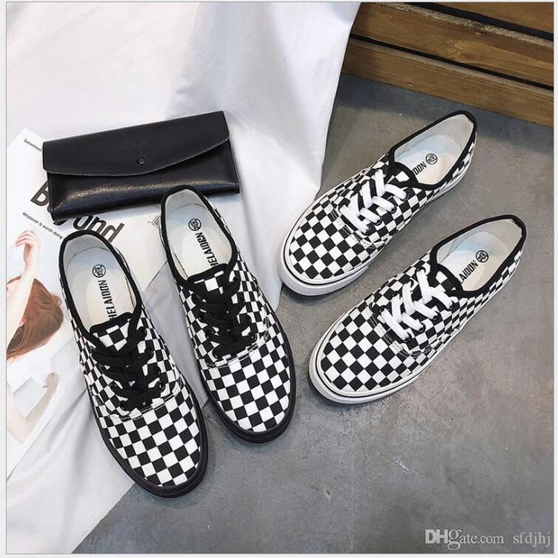 0c481f5f1a0 2018 Summer Women Sneakers Lattice Casual Canvas Shoes Female White ...