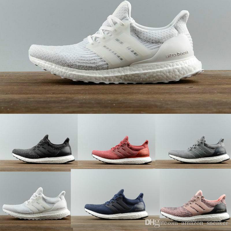 e1de1a84a 2018 Ultra Boost Running Shoes 4.0 Triple White Black Grey Men Women ...
