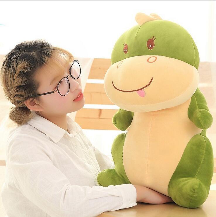 lovely soft cartoon dinosaur plush doll big stuffed anime dinosaurs toy pillow for kids gift decoration