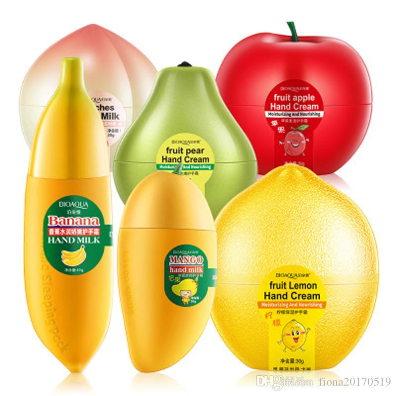 Mini Cute Peach Banana Mango Apple Moisturizing Whitening Fruit Hand Cream for Winter Hand Care Lotion Nourishing Skin