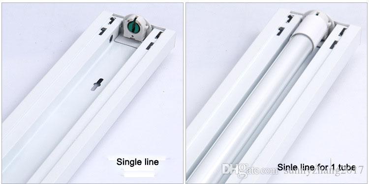 Led 선형 고정 장치 T8 led 튜브 지원 브래킷 방진 커버 고정 장치 4ft 1200mm, 무료 배송