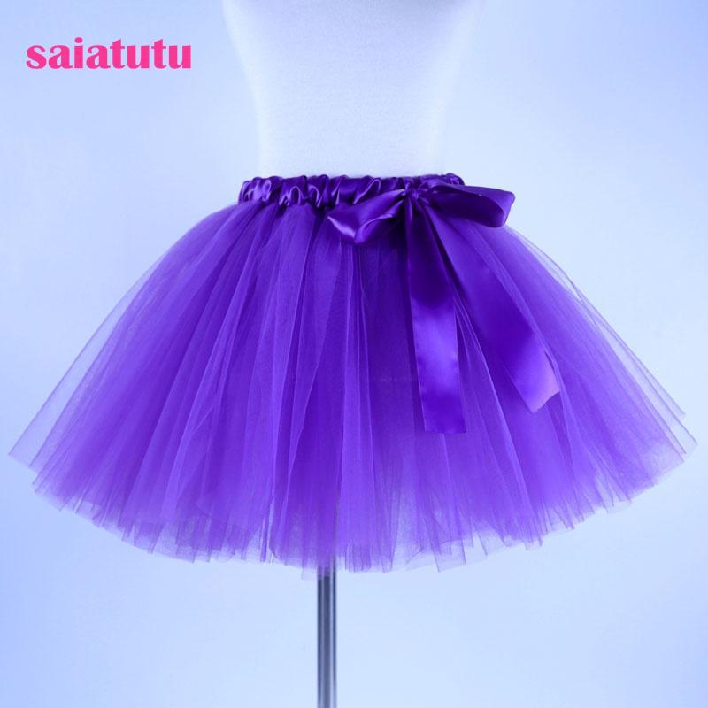 2018 NEW purple tulle toddler children baby costume ball gown party dance wedding short pettiskirt tutu girl kids skirt cheap