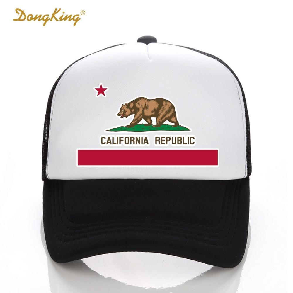 7e567481aa49 DongKing Fashion Trucker Hat California Flag Snapback Mesh Cap Retro  California Love Vintage Republic Bear Top Superman Cap Hat Embroidery From  Grandliu