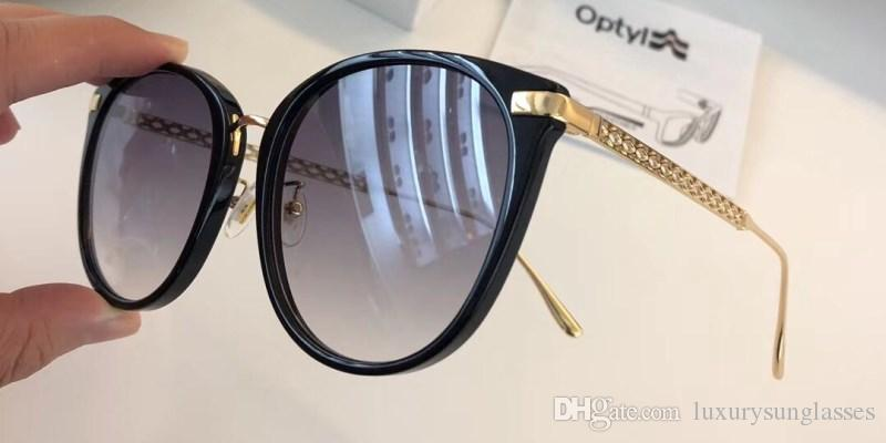 2fec58c2864 New Luxury Sunglasses Fashion Designer Shiny Chip Plate Charm Frame ...