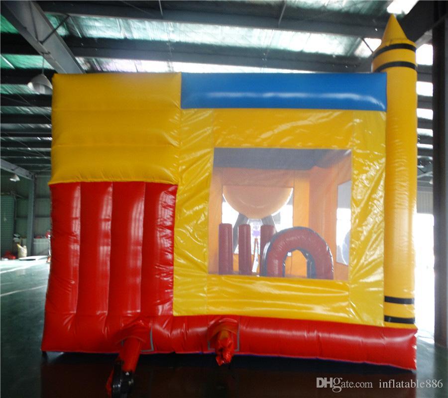 O bom castelo combinado inflável do salto do novo minion / caçoa o trampolim de salto à venda