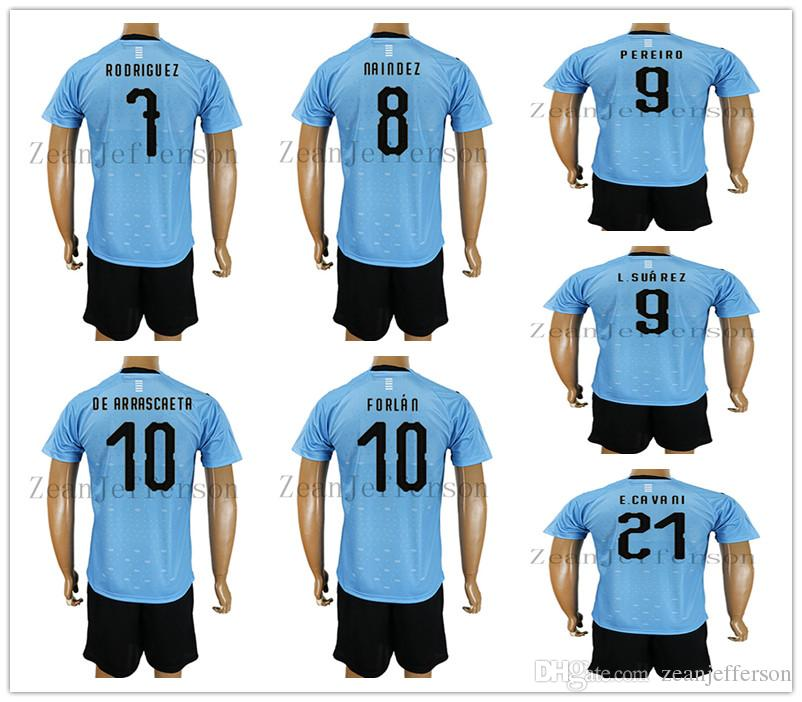 5419201760c Soccer Jerseys Kits 2018 World Cup Uruguay Home Blue RODRIGUEZ ...