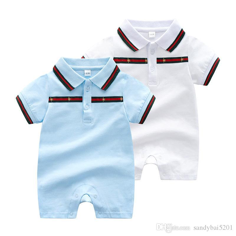 29ee43ef1492 Baby Boys Girls Rompers Newborn Infant Striped Sports Suits 2018 New Kids  Short Sleeve Jumpsuit Climbing Clothes for Children 0-2T S40 Baby Boys Girls  ...