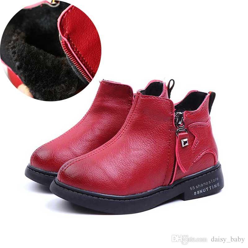 777ca313c8c55 Acheter Bottines Pour Enfants D hiver Chaussure Enfants Martin Boot  Chaussures Chaudes Pour Garçons Bottes Pour Filles Bottes Chaussures   17  De  19.29 Du ...