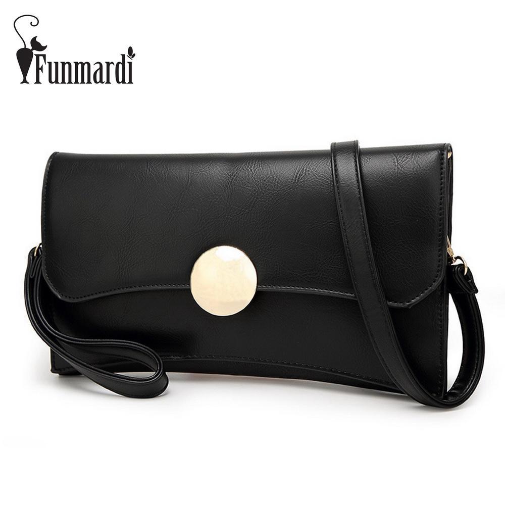 Luxury Metal Button Design PU Leather Clutch Bag Fashion Messenger ... 6baaaf3cd2c98