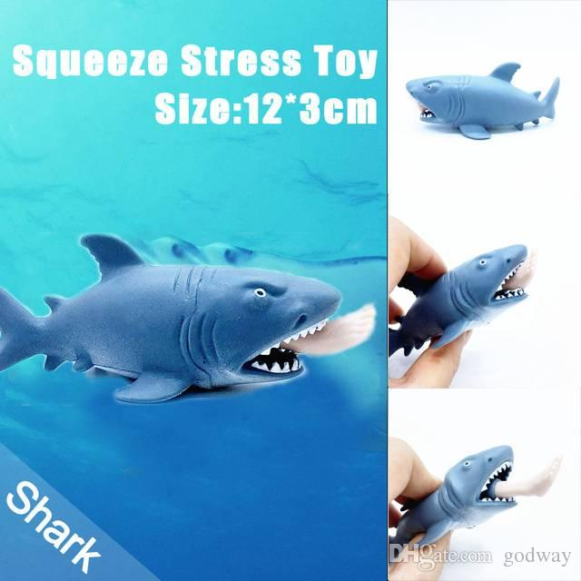 Funny Toy Shark Squeeze Stress Ball Alternative Humorous Light Hearted New Shark Toy Stress Ball Alternative Novelty Games For Adults Novelties From Godway, ...
