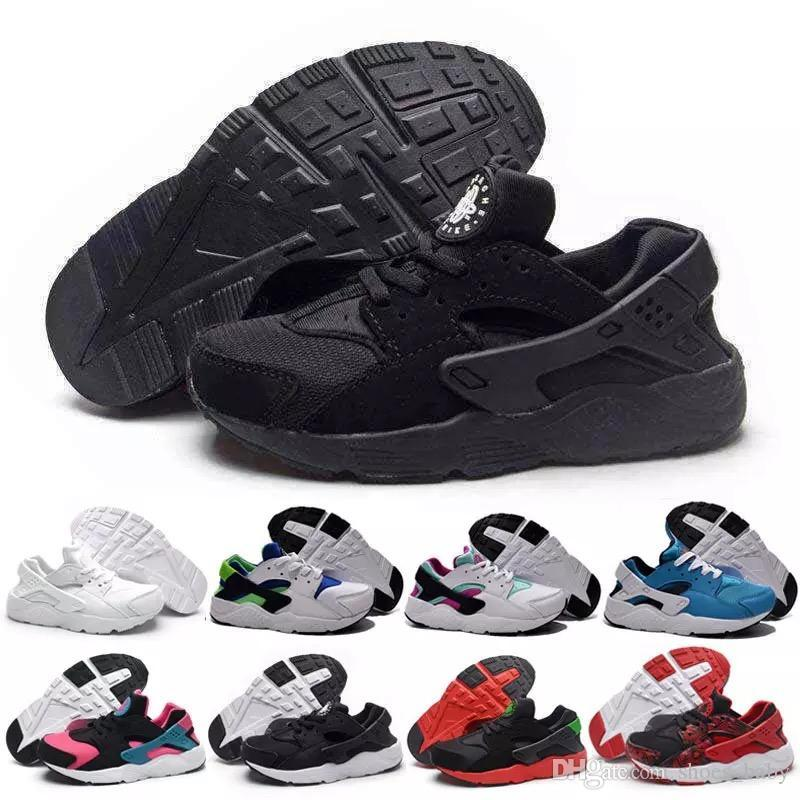 Baby Air Huarache V1 Kids Running Shoes Portable Children Athletic Shoes  Boys Girls Sports Shoes Baby Training Sneaker Black White Red Blue Childrens  ... 00db31638
