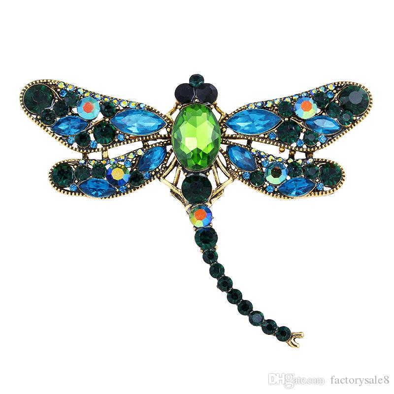 Nouvelle Haute Quailty Mode Strass Animal Broche Bijoux Belle Alliage Abeille Broches Broches Accessoires Pour Femmes
