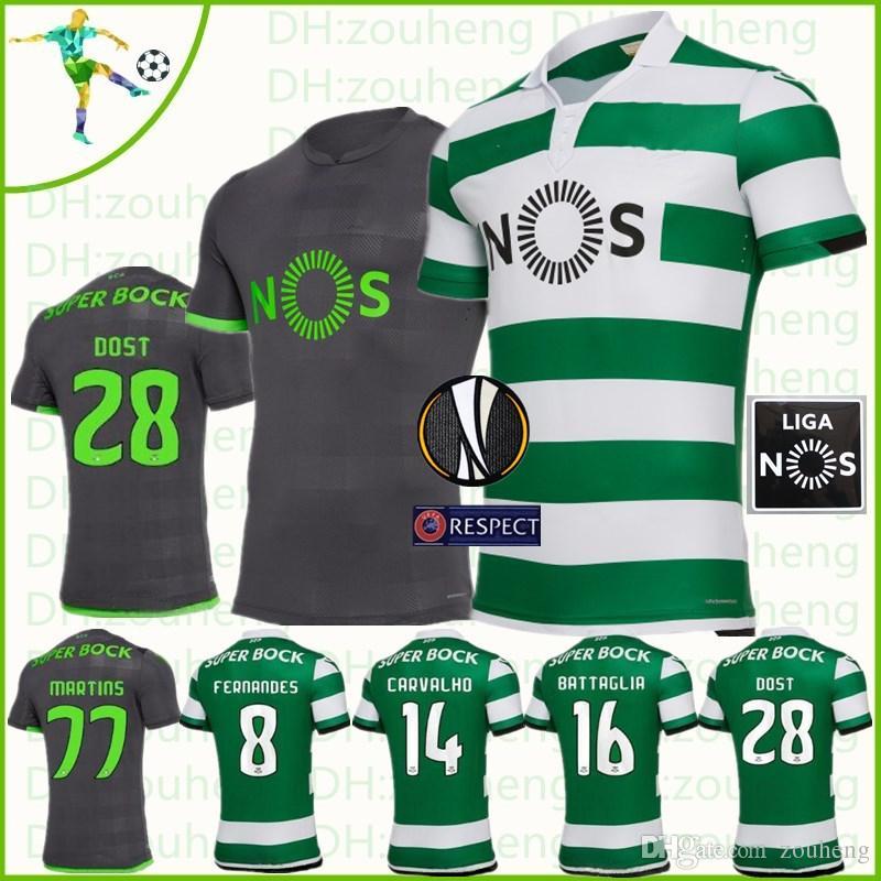Compre Camisas De Futebol De Lisboa 2018 2019 Longe De Casa DOST BATTAGLIA  FERNANDES CARVALHO MARTINS ACUNA Camisa De Futebol De Zouheng 0434692cb0780