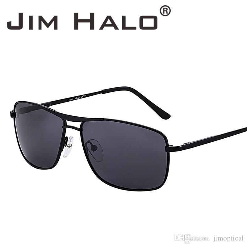 6f0458e8d6 Jim Halo Retro Lightweight Spring Hinge Polarized Aviation Sunglasses Men  UV400 Lens Sun Glasses Driving Fishing Outdoor Polaroid Eyewear  Prescription ...