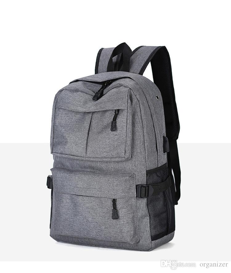 2018 4 цвета 22 дюймов внешний USB зарядка ноутбук рюкзак противоугонный ноутбук сумка для отдыха путешествия рюкзак 30 шт.