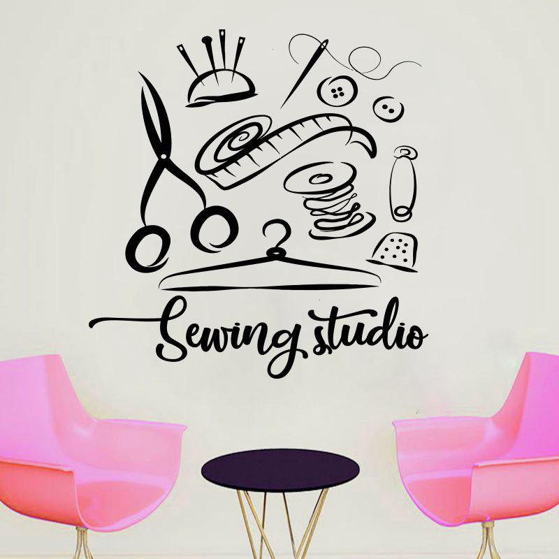 Sewing Studio Wall Sticker Atelier Home Decor Vinyl Wall Decals