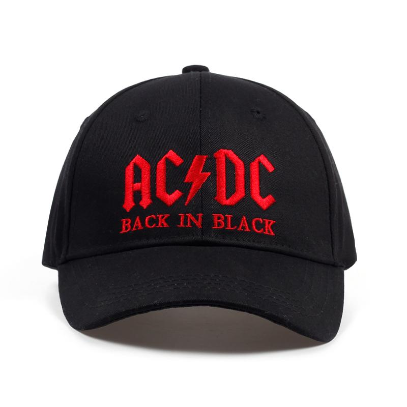 a44ab6f079b99 2017 New AC DC Band Baseball Cap Rock Hip Hop Cap Mens Acdc Snapback Hat  Embroidery Letter Casual DJ ROCK Dad Hat Ball Caps Fitted Caps From  Nylonshan