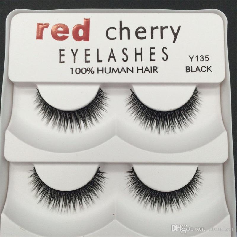 Red Cherry 3D pestañas falsas 5 pares / paquete 8 Estilos Natural Largo Maquillaje profesional Ojos grandes Alta calidad 3001224