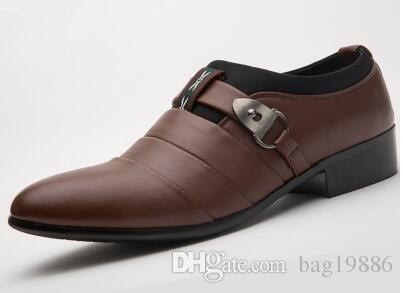 2018 Man Dress Shoes Fashion Italian Luxury Casual Mens Shoes