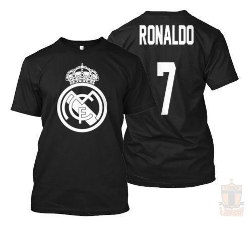 official photos 30ac8 c60e3 New 33069-Real Madrid Cristiano Ronaldo Name back La Liga T Shirt Size S-5XL