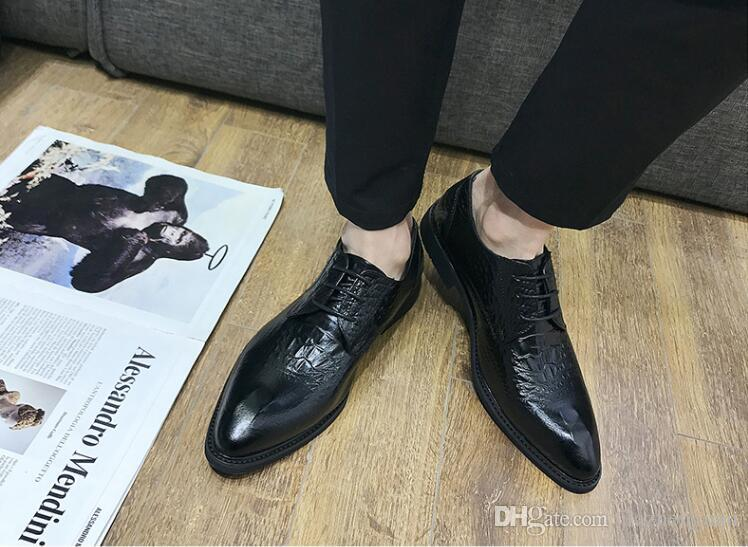 70462ecce21d 2019 New Style Designer Ballroom Platform Italian Leather Formal Shoes Men  Male Snake Skin Wedding Evening Oxford Shoes M619 Wholesale Shoes Black  Shoes ...