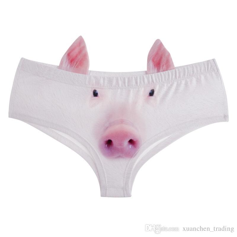 Compre Nova Moda 3D Impresso Animal Dos Desenhos Animados Femme Sexy  Underwear Mulheres Calcinha Feminina Com Orelhas Calcinha Bonito Briefs  Tanga De ... f780a22ebb9