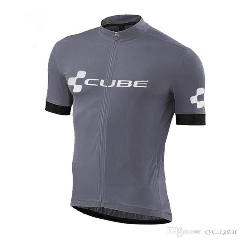 Cube 2018 Cycling Jersey Summer Racing Tops Cycling Clothing Ropa Ciclismo Quick Dry Short Sleeve Shirt mtb Bike Jersey A2501