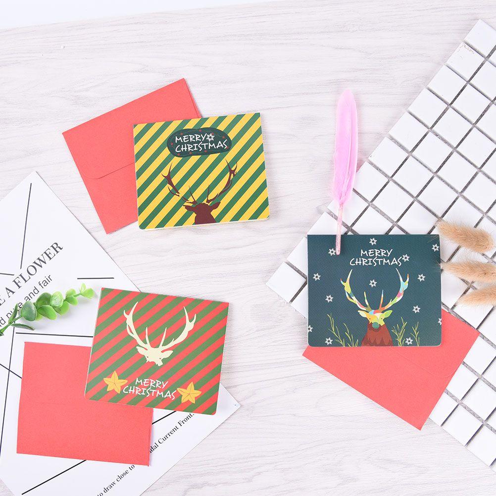 handmade sika deer antler greeting cards christmas cards kids gifts festival birthday merry christmas decoration free animated christmas cards free animated - Current Christmas Cards