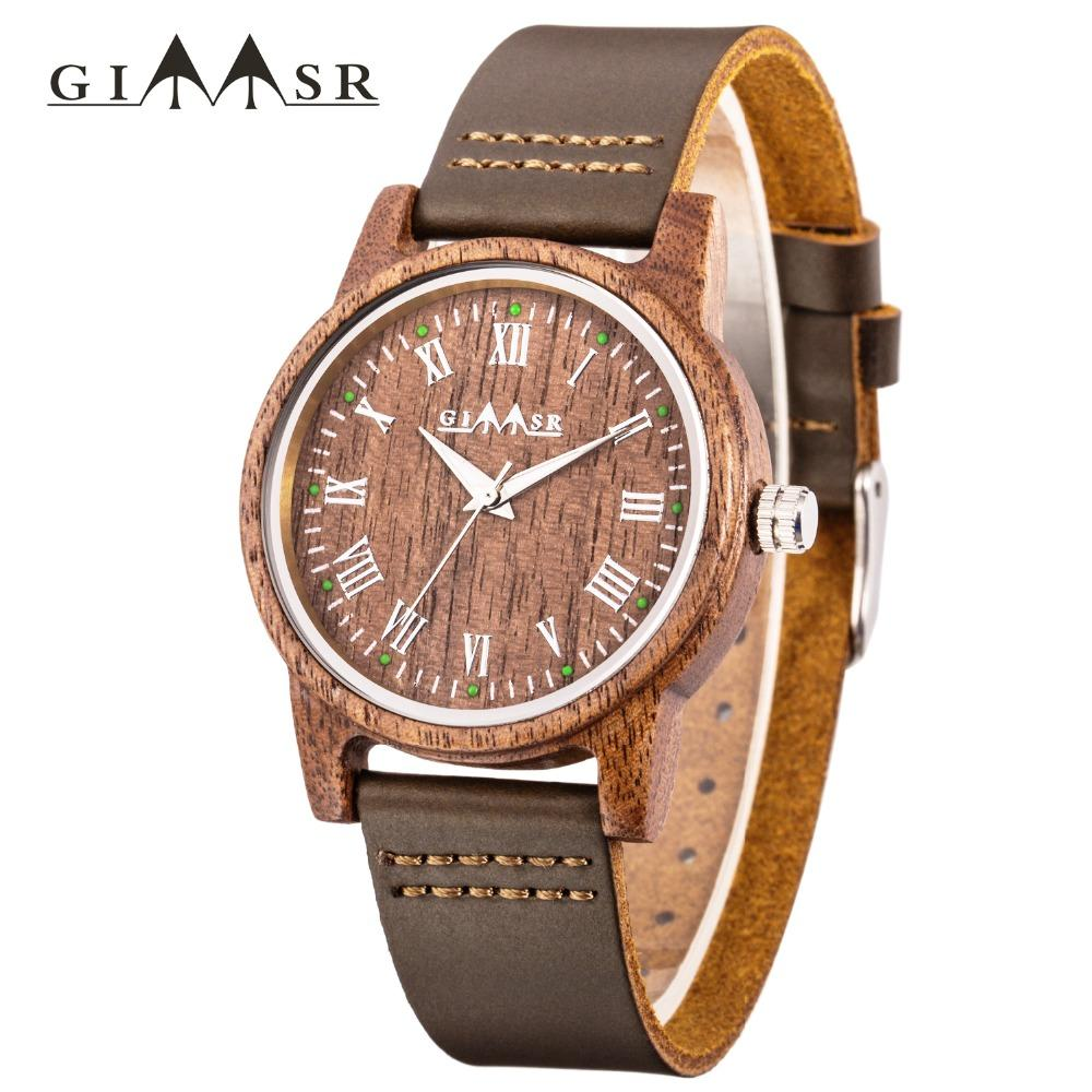 2018 Natural Luxury Mens Wooden Watches Gift Wristwatch Unique Men Wood Watch Simple Brand Luxury Direct Sales Relogio Masculino