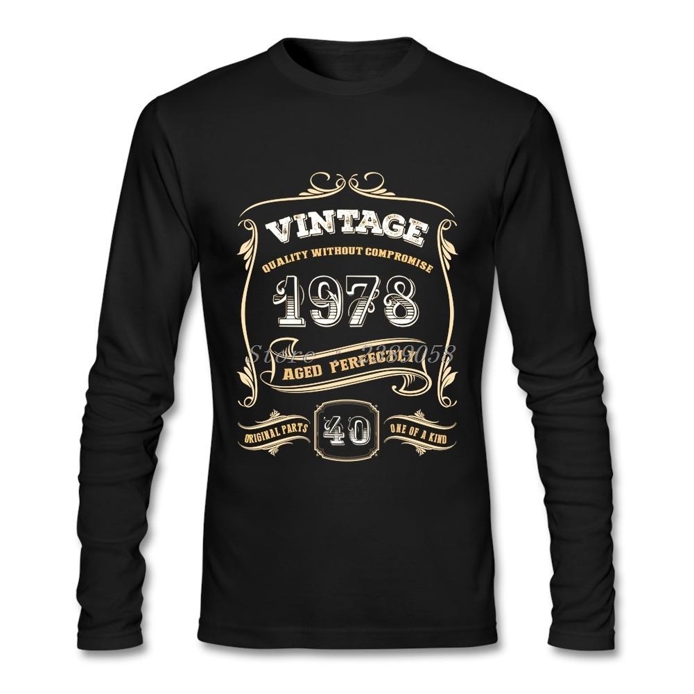 Custom Made T Shirts Men 40th Birthday Gift Classic 1978 Aged