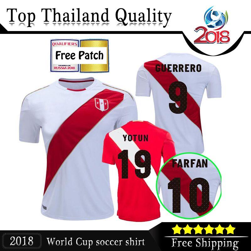 377a26a70 2018 Peru Soccer Jerseys Home White 18 19 Paolo Hurtado Trauco ...