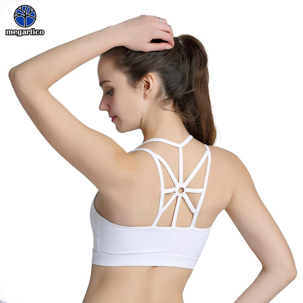 e8e63e06add26 2019 Womens Sports Bra High Impact Sexy Yoga Bra Women Padded Sports Shake  Proof Crisscross Racerback Women Gym Tops For Running From Portnice