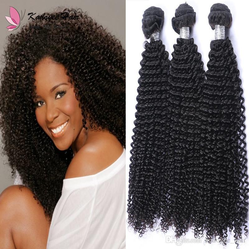 Afro Kinky Curly Human Hair Weave Bundles 100gpcs Indian Virgin