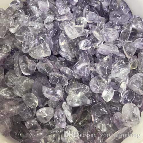 100g purple amethyst Crystal Quartz Gravel Decorate Aquarium fish tank Stone adorn detritus Healing Mineral massage Rough Rubble chips joy